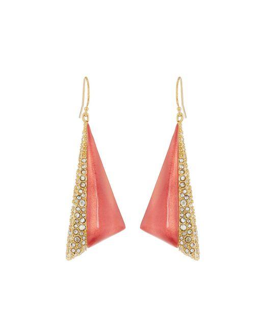 Alexis Bittar   Pink Crystal Encrusted Futurist Triangle Drop Earrings   Lyst