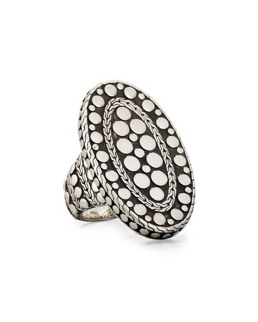 John Hardy Metallic Oval Dot Ring Size 7