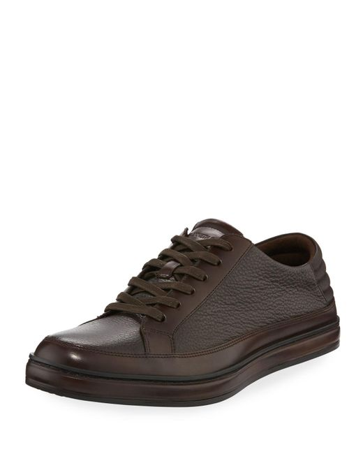 Kenneth Cole - Brown Brand Prize Lace-up Sneaker for Men - Lyst