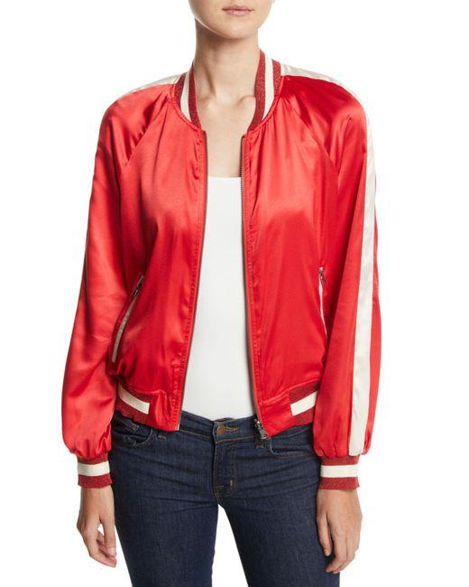 Pam & Gela - Red Reversible Colorblock Track Jacket - Lyst
