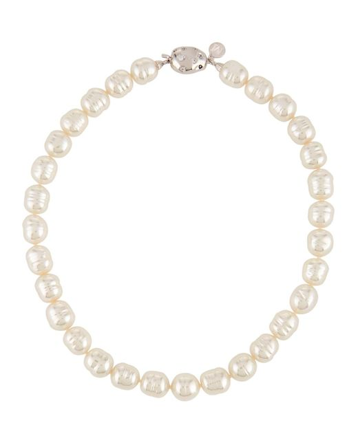 Majorica - White Manmade Pearl Beaded Necklace - Lyst