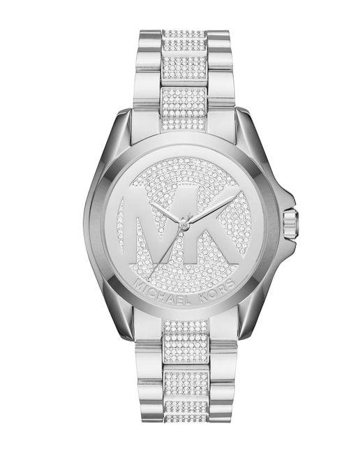 MICHAEL Michael Kors - Metallic 43mm Jet Set Crystal Bracelet Watch - Lyst