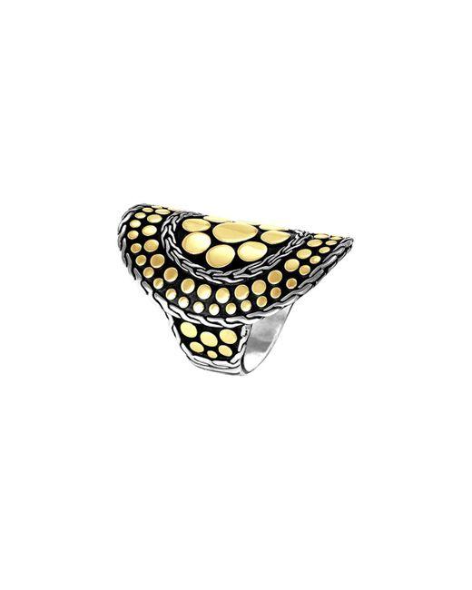 John Hardy - Multicolor Dot Nuansa Curved Ring - Lyst
