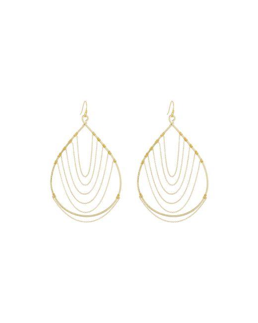 Nakamol | Metallic Chain-trimmed Teardrop Earrings | Lyst