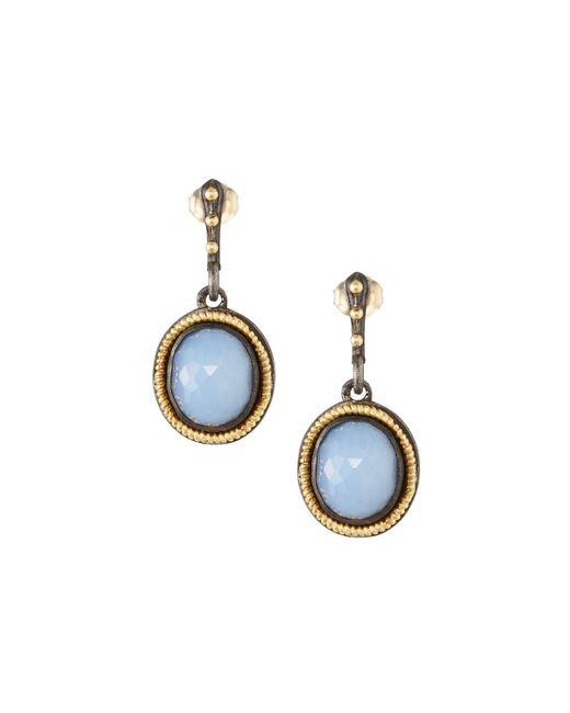 Armenta - Blue Old World Chalcedony Drop Earrings - Lyst