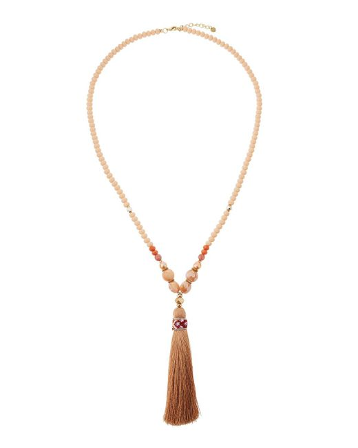 Nakamol - Pink Beaded Tassel Pendant Necklace - Lyst
