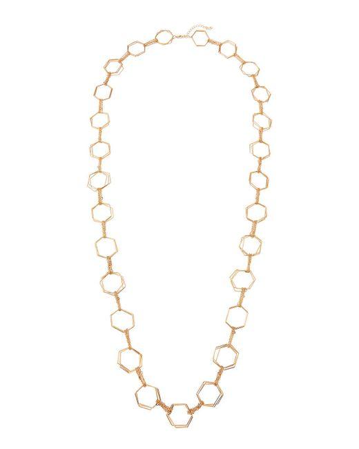 Panacea - Metallic Geometric Link-station Necklace - Lyst