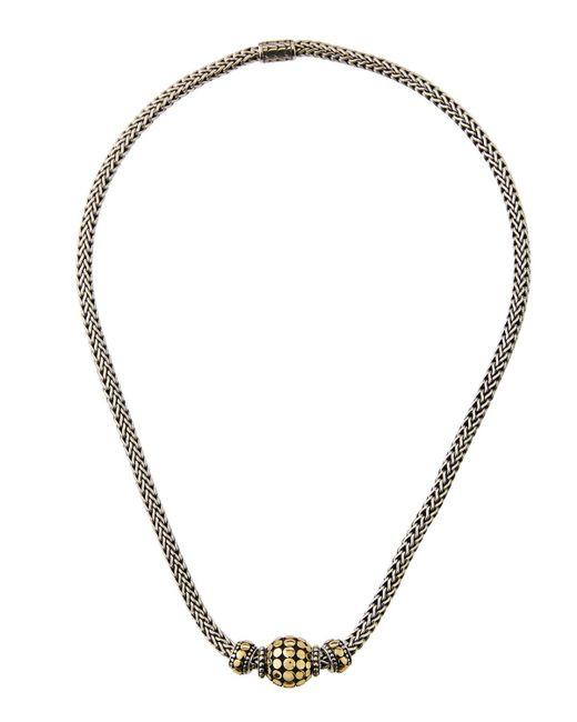 John Hardy - Blue Three-bead Dot Chain Necklace - Lyst