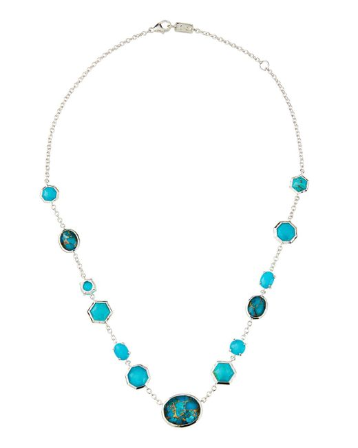 Ippolita Blue Rock Candy Mixed-stone Necklace In Turquoise