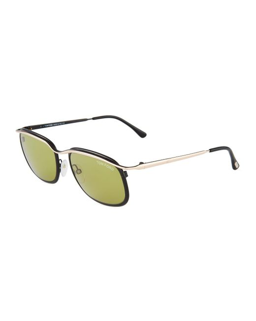 Tom Ford - Metallic Square Metal Sunglasses - Lyst