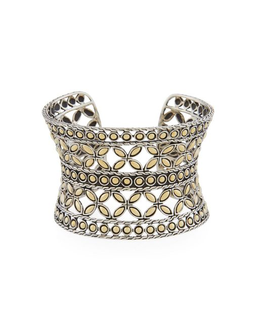 John Hardy - Metallic Kawung Flower Cuff Bracelet - Lyst