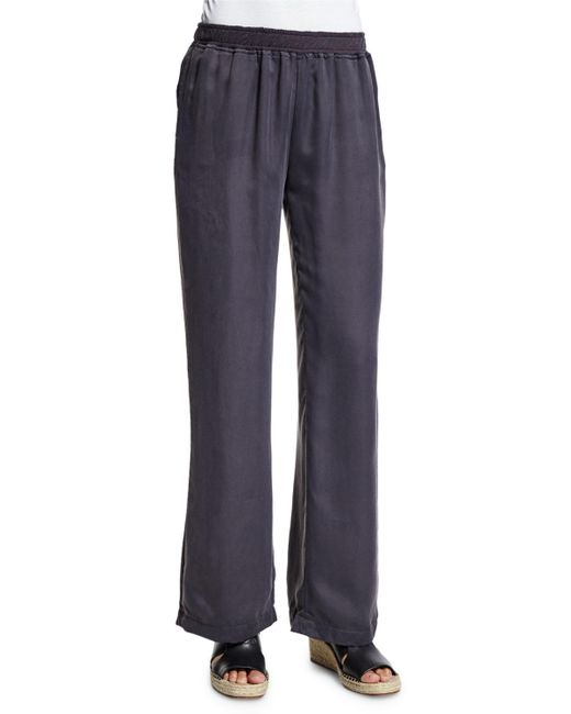 Skin   Blue Jules Wide-leg Lounge Pants   Lyst