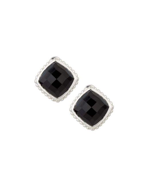 Judith Ripka   Cushion-cut Black Onyx Button Earrings   Lyst