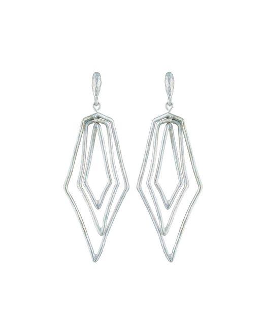 Stephanie Kantis Metallic Paris Triple Diamond Earrings