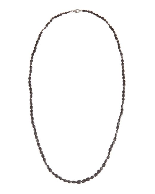Bavna | Black Long Spinel Beaded Necklace W/ Pave Diamond Clasp | Lyst