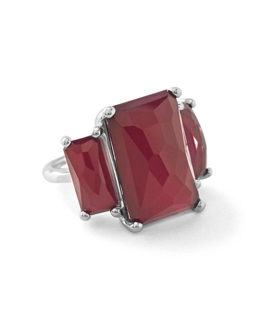 Ippolita - Red Rock Candy 3-stone Ring In Cherry - Lyst