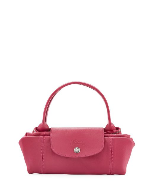 Longchamp - Pink Le Pliage Cuir Small Tote Bag - Lyst