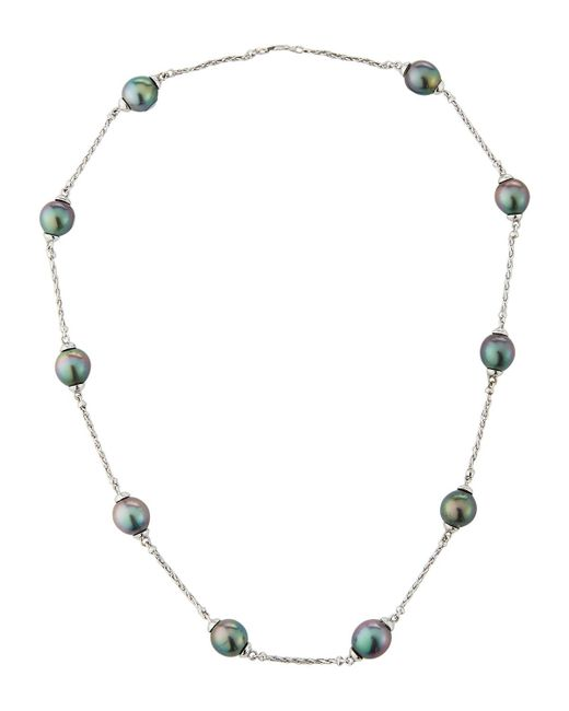 Belpearl - Metallic 14k Tahitian Pearl & Chain Necklace - Lyst