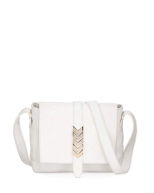 Versace - Multicolor Pebbled Leather Shoulder Bag White - Lyst ... 6a2ba7a26ceb8