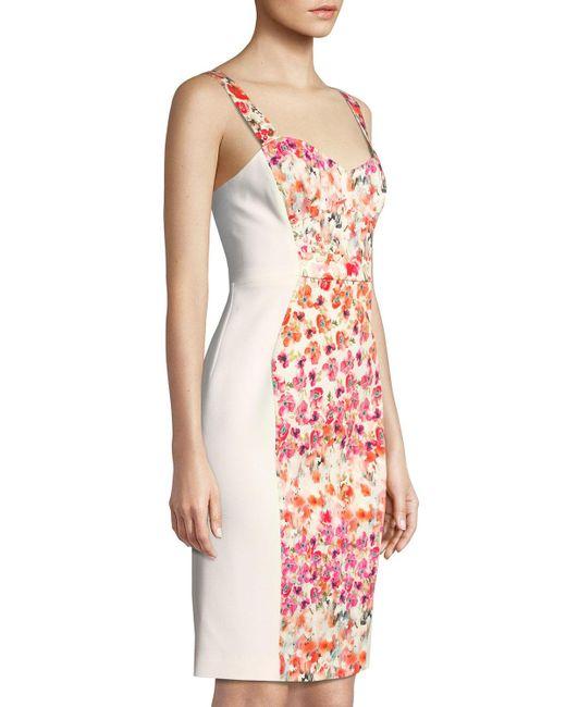 43b7cc1ff8eda ... Black Halo - Multicolor Sadie Floral-paneled Bustier Sleeveless Dress -  Lyst ...
