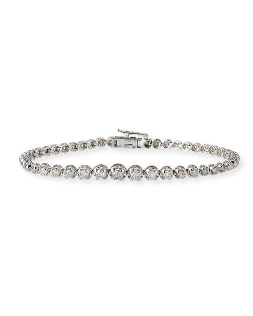 Neiman Marcus - 14k White Gold Diamond Tennis Bracelet 3.0tcw - Lyst