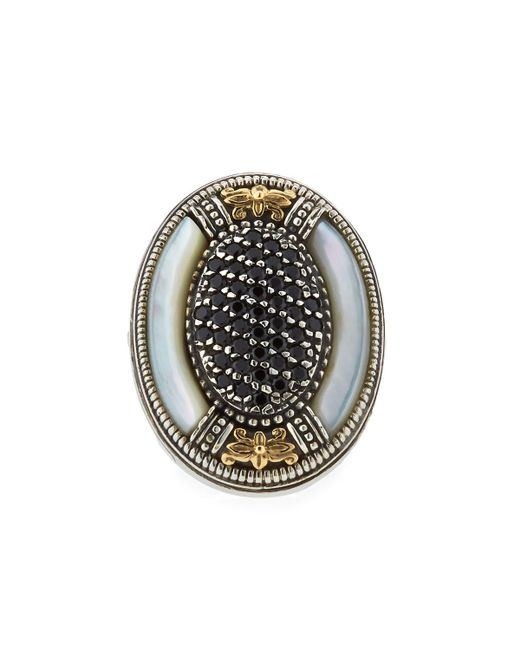 Konstantino - Metallic Mother-of-pearl & Spinel Oval Ring - Lyst