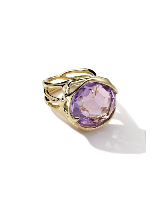 Ippolita   Multicolor 18k Large Drizzle Ring In Amethyst   Lyst