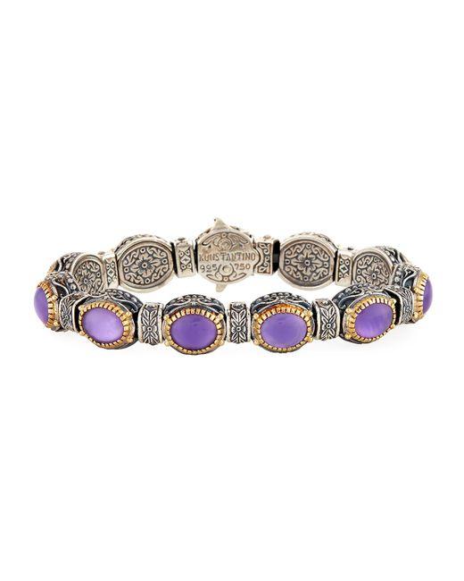 Konstantino | Purple Erato Oval Amethyst Doublet Link Bracelet | Lyst