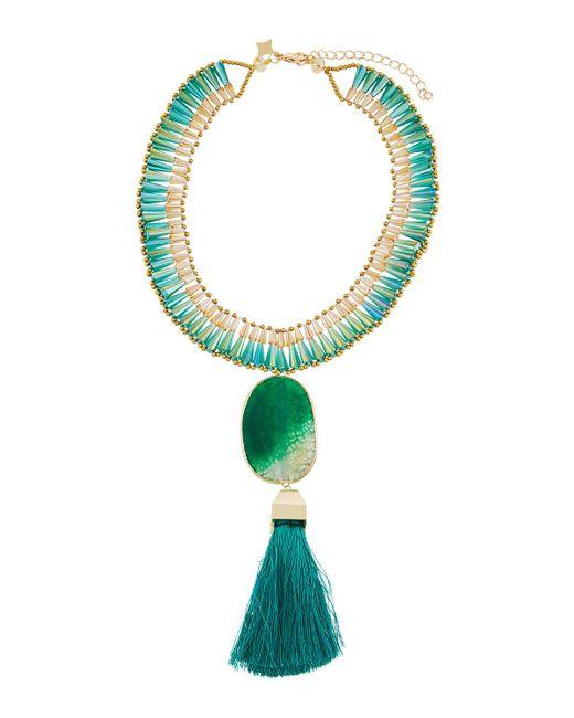 Panacea | Green Statement Pendant Collar Necklace | Lyst