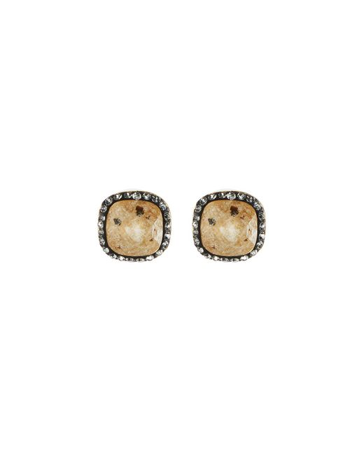 Lydell NYC | Multicolor Crystal Cushion Stud Earrings | Lyst