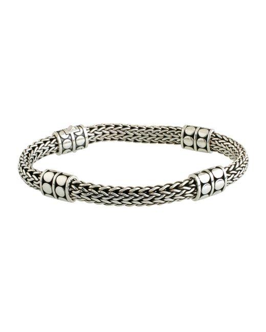 John Hardy - Metallic Dot Four-station Medium Silver Bracelet - Lyst
