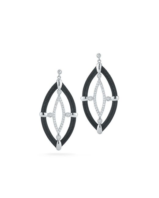 Alor - Black 18k Diamond & Cable Marquise Drop Earrings - Lyst