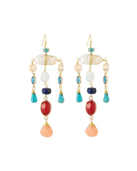 Nakamol - Multicolor Pearl & Crystal Dangle Earrings - Lyst