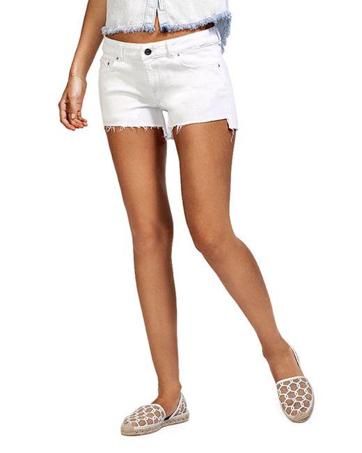 DL1961 - White Renee Cutoff Denim Shorts - Lyst