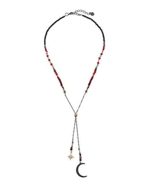 Nakamol - Black Crystal Moon & Star Lariat Necklace - Lyst