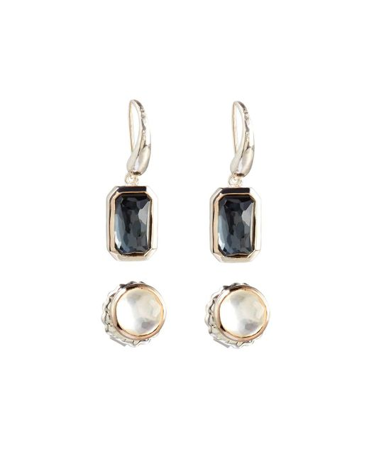 Ippolita | Metallic Rock Candy Pyrite Stud & Dangle Earring Set | Lyst