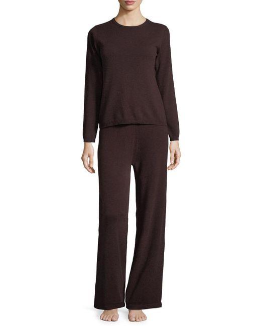 Neiman Marcus - Multicolor Cashmere Crewneck Sweater & Pant Lounge Set - Lyst