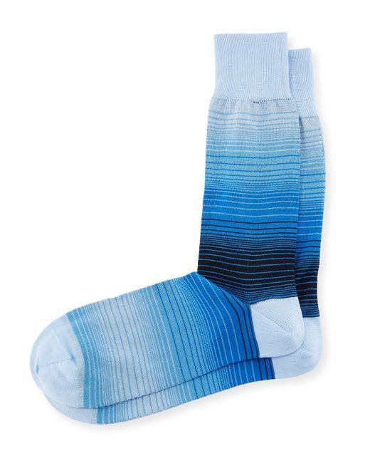 Bugatchi | Blue Men's Striped Socks for Men | Lyst