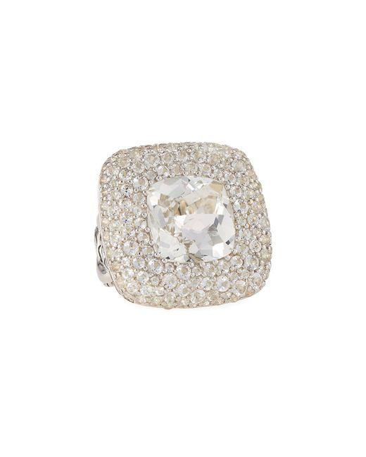 John Hardy - Batu Klasik Square White Topaz Ring - Lyst