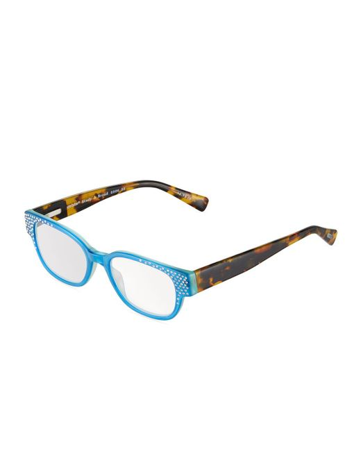 Eyebobs - Blue Study A Broad Oval Acetate Reading Glasses - Lyst