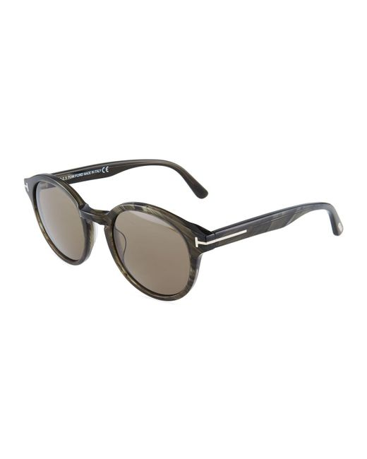 Tom Ford - Multicolor Round Acetate Sunglasses - Lyst