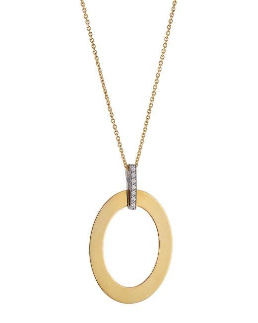 Roberto Coin - Metallic Chic & Shine 18k Diamond Oval Necklace - Lyst