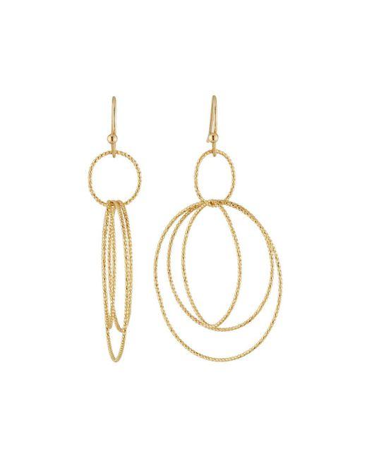 Lydell NYC - Metallic Multi-hoop Drop Earrings - Lyst