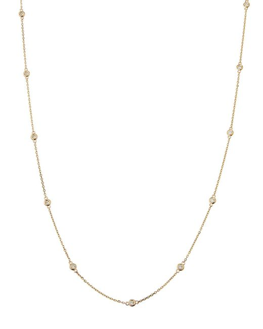 Neiman Marcus - 14k Yellow Gold Diamond By-the-yard Necklace - Lyst