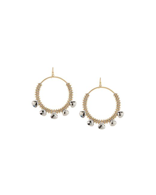 Panacea | Gray Hematite Crystal Hoop Earrings | Lyst