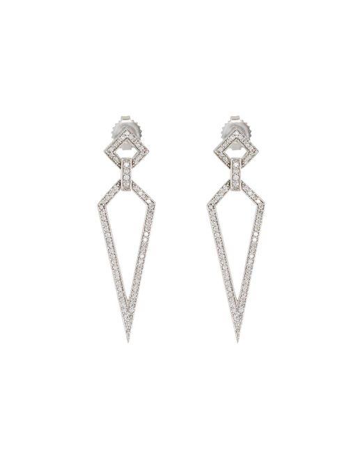 Penny Preville - 18k White Gold Diamond Stiletto Drop Earrings - Lyst