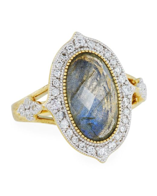 Jude Frances | Metallic Moroccan 18k Diamond & Labradorite Doublet Ring | Lyst