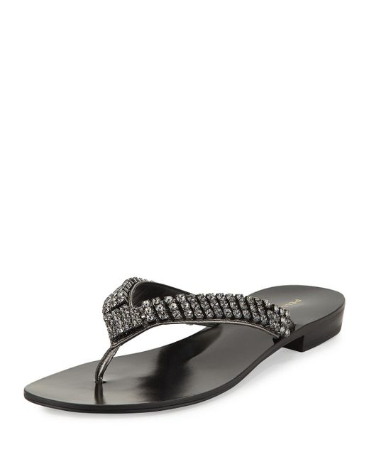 Pelle Moda - Multicolor Best Embellished Flat Sandal - Lyst