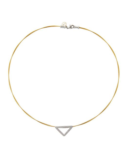 Alor - Metallic Triangular Diamond Pendant Necklace - Lyst