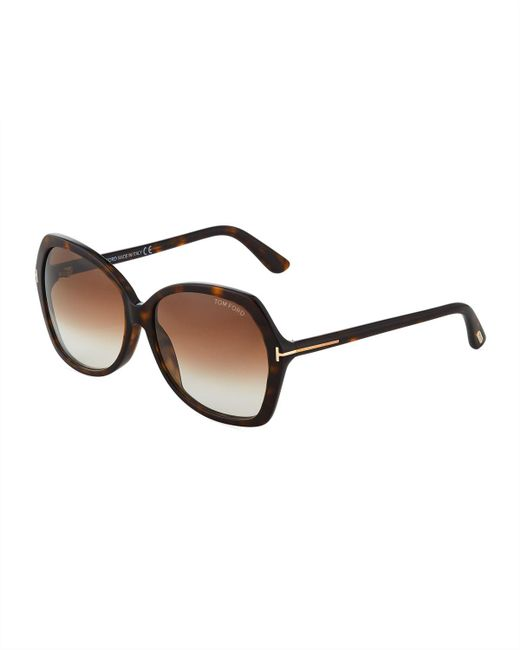 Tom Ford - Brown Square Acetate Sunglasses - Lyst
